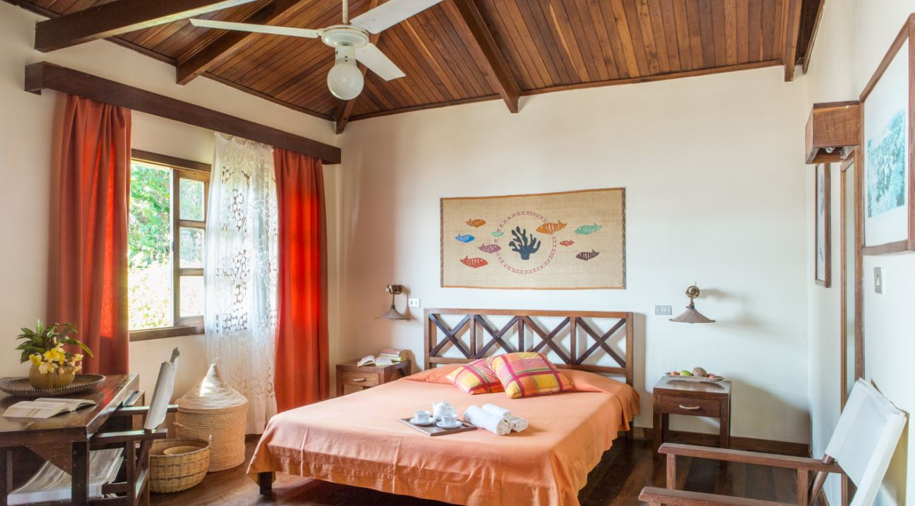 Bedroom of a bungalow of the Corail Noir
