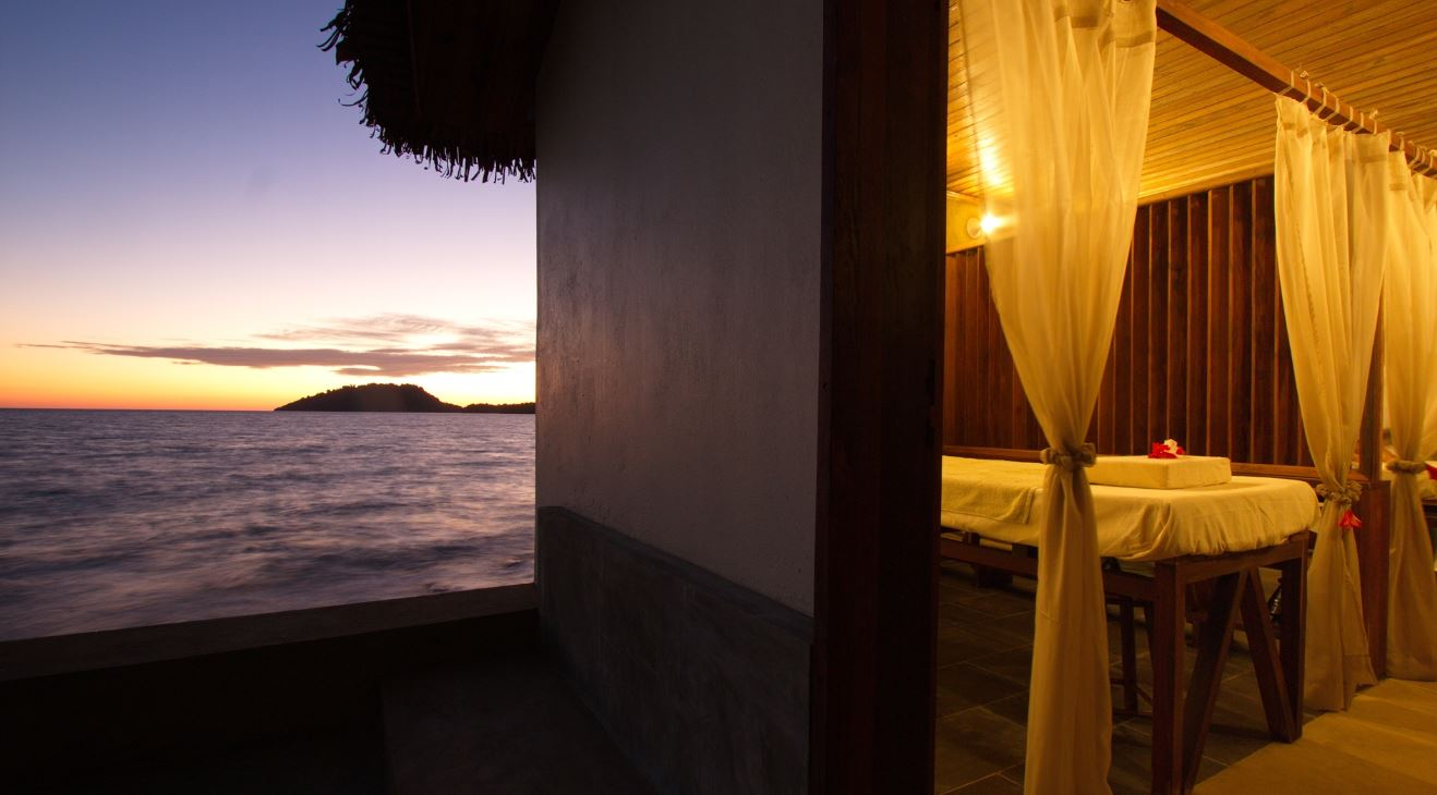 View from the massage room at sunset